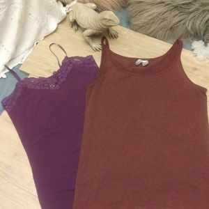 2 purple tanks